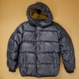 Crewcuts Navy Blue Puffer Coat with Hood